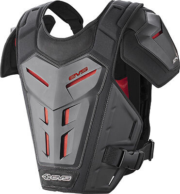 EVS Revo 5 Roost Guard Chest Protector Dirt Bike Youth Small/Med Grey/Red