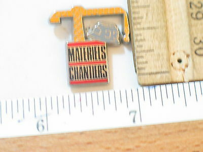 Construction Crane Pin Badge  (#38)