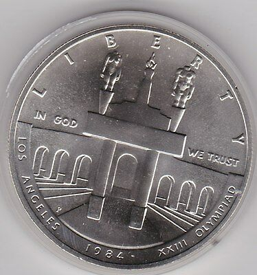 Usa 1984P Olympics Silver Dollar In Mint Condition With A Capsule