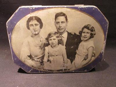 Bluebird Toffee Vintage Tin King George VI and Family Mansfield Ltd #19142