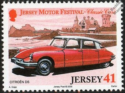 CITROEN (Citroën) DS Sedan Automobile / Classic Car Stamp (2005 Jersey)