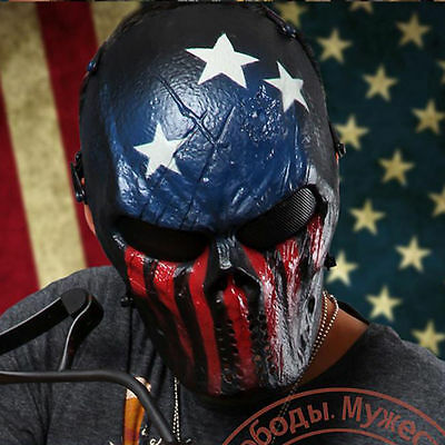 Airsoft Skull Mesh Eye Full Face Mask For Cosplay Paintball BB Outdoor War Game