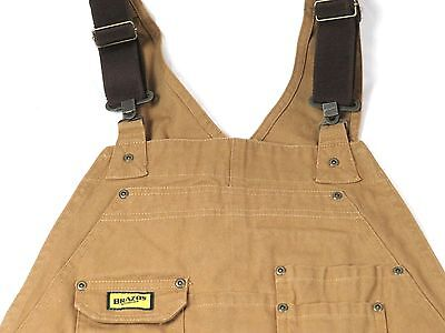 Men's Bib Overalls Brazos Work Force Carpenter Brown Duck
