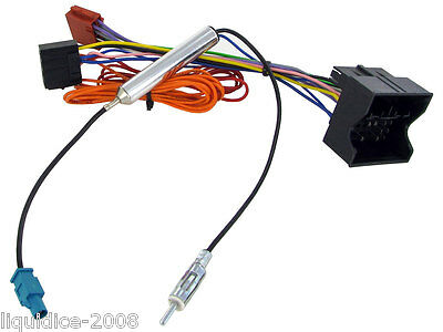 Cd30 Cd70 Vauxhall Meriva 2009 Onwards Radio Iso Wiring Harness Aerial Adaptor