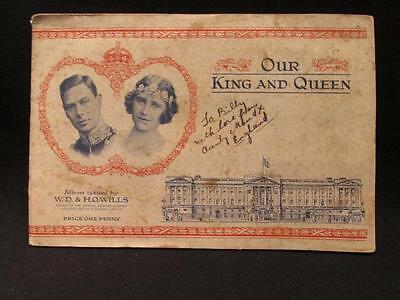 Coronation 1937 WD & HO Wills Album King George VI Complete with Cards