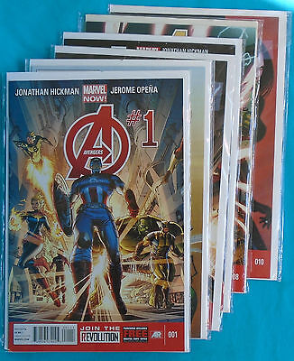 AVENGERS (2013 Jonathan Hickman) Issues 1 through 11 plus Annual #1, Marvel Now!