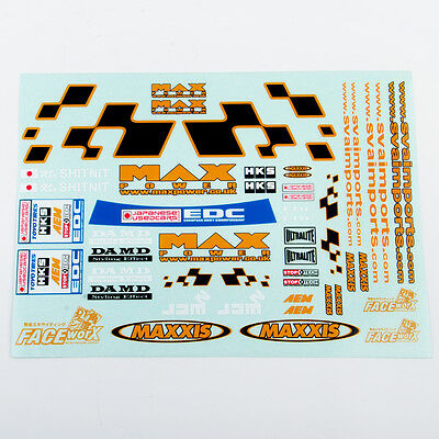 Decal Sticker For HSP HPI 1/10 RC Racing DRIFT Model Car Body Self Adhesive Car