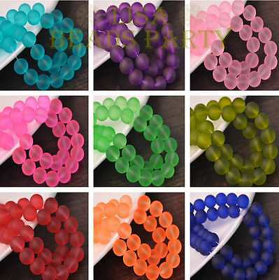 New 4mm 6mm 8mm 10mm Round Jelly Like Loose Glass Spacer Beads Lots Wholesale