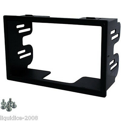 CT24VW08 SEAT IBIZA 2003 to 2008 BLACK DOUBLE DIN RADIO MOUNTING FASCIA PANEL