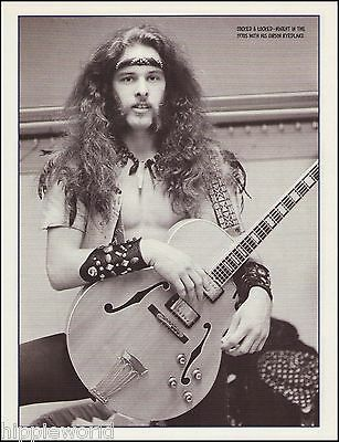 Ted Nugent in the 1970's with his Gibson Byrdland Guitar 8 x 11 pinup photo