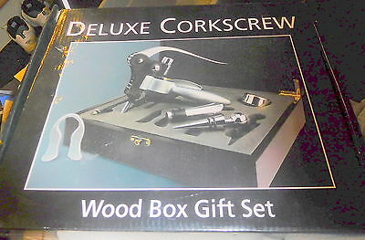 New UrbanTrend Deluxe Corkscrew Wood Box Gift Set by Urban Trend cork screw