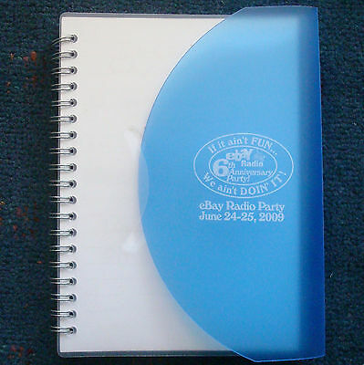 "Official eBay Radio Party 2009 Branded Spiral Bound notebook journal 7""x5"""
