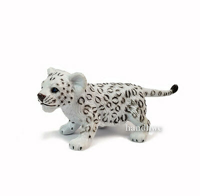 AAA 96523STA Light Snow Leopard Cub Standing Model Toy Figurine Replica - NIP