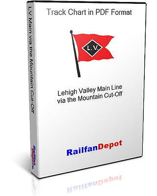 Lehigh Valley Main Track Chart & Mountain Cut-Off - PDF on CD - RailfanDepot