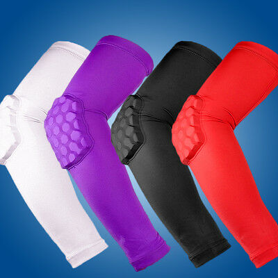 Crashproof Pad Cycling Honeycomb Arm Sleeve Elbow Support Basketball Shooting UK