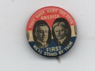 """1913 Woodrow Wilson Political Jugate """" They have kept the Faith..stand by them """""""