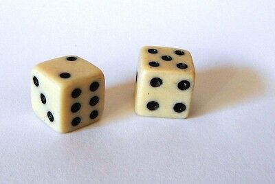 PAIR OF VINTAGE Camel BONE DICE 10 MM RARE/ New old stock