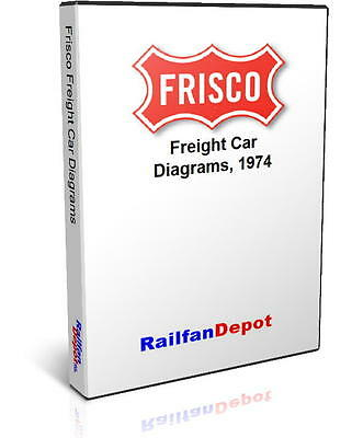Frisco SLSF Railway Freight Car Diagrams - PDF on CD - RailfanDepot