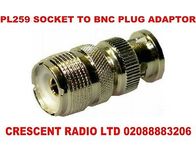 SO239 (PL259) To BNC Male RF Adaptor for Radio Scanner and Transceiver