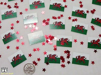 Wedding Table Scatters Confetti Flags - Wales