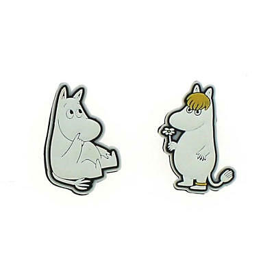 Moomintroll & Snork Maiden Fridge Magnet Set Retro Moomins Rubber Film Riviera