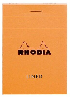 Rhodia # 11 Notepad 3 x 4 Lined, Orange Cover