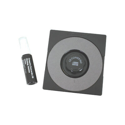Manual Cd/dvd Disc Cleaning Kit Pad And Base + Spray Clean Fluid New
