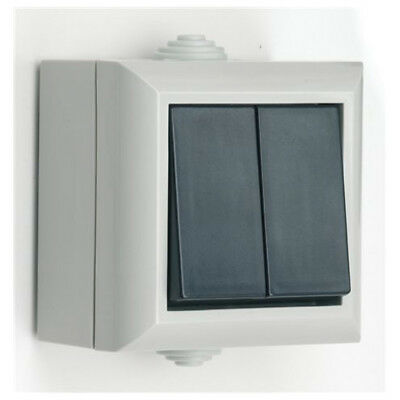 Polycarbonate Waterproof Class IP54 Rated Outdoor Switch 2G 1W New