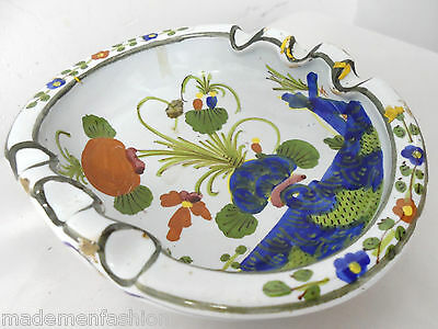 VINTAGE! MADE IN ITALY CERAMIC HAND PAINTED ASHTRAY DISH  X. 2 of 3