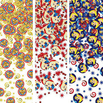 DC SUPER HERO GIRLS CONFETTI VALUE PACK (3 types) ~ Birthday Party Supplies Foil