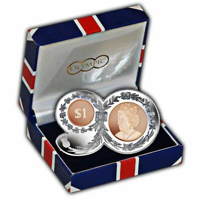 "The 2016 Queens 90th Birthday ""90"" Shaped Nickel-Silver and Bronze Coin"