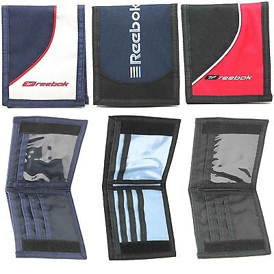 Brand New Mens Boys Classic Reebok Sport Wallets Choice Of 3 Colours Sizes