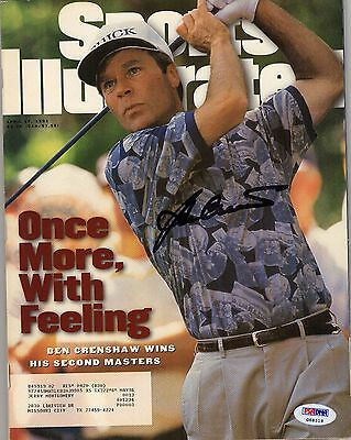 Ben Crenshaw Signed Autographed Golf Sports Illustrated Magazine Psa/dna #g68519