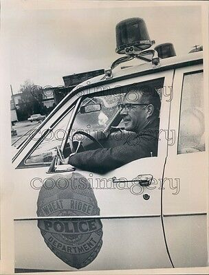 1969 Wheat Ridge Colorado Police Chief Alderman Jack Bramble Press Photo