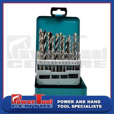 Makita D-47173 18 Piece Drill Bit Set For Wood, Metal & Masonry In Metal Case