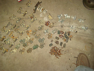 65 plus pieces of vintage shutter cast iron brackets