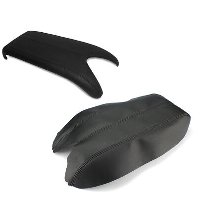 New Leather Black Center Console Lid Armrest Cover For Acura RDX 2007-2012