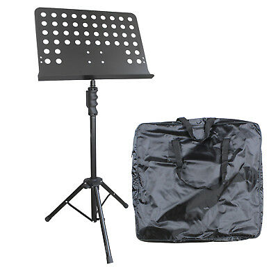 Artist MUS032+B Orchestral Music Stand with Solid Bookplate + Bag - New