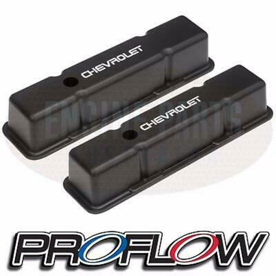 Proflow Cast Alloy Tall Valve Rocker Covers Black Chev Sb 307 350 383 400 V8