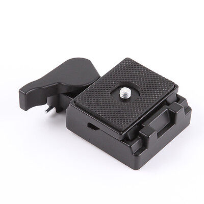 Quick Release QR Plate Clamp Adapter f Manfrotto 200PL-14 323 RC2 System Tripod