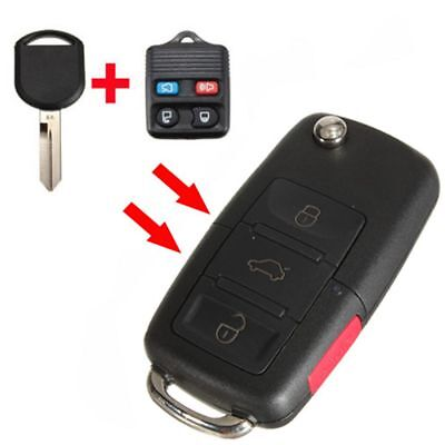 Flip Folding Keyless Remote Key Entry FOB For Ford Lincoln Mercury 4 Buttons New