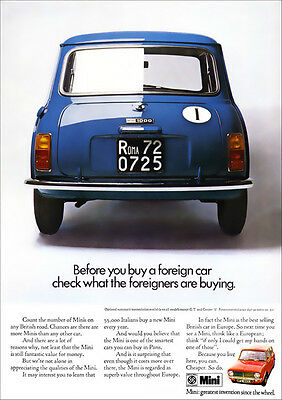 Mini Retro A3 Poster Print From Classic 70's Advert