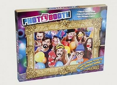 25Pc Photo Booth Selfie Props  With/ Picture Frame - Adult