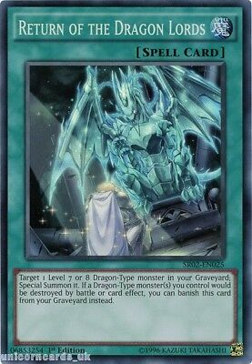 SR02-EN025 Return of the Dragon Lords Super Rare 1st edition Mint YuGiOh Card
