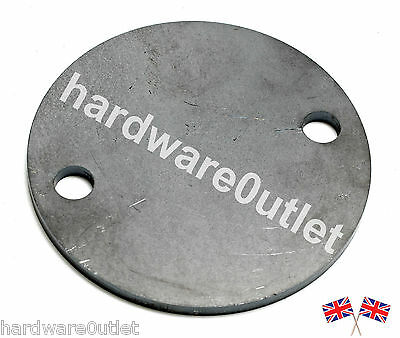 5mm thick Mild Steel DISC 100 mm Round Fixing Plate with 2 x11 mm Diameter Holes