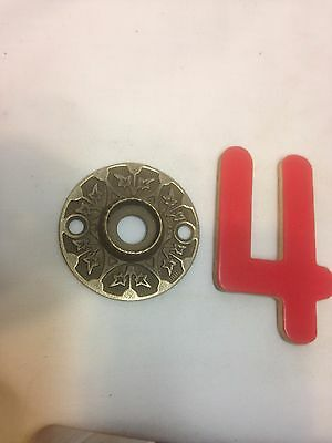 Vintage Brass Ornate Door Knob Escutcheon Plate Part 4