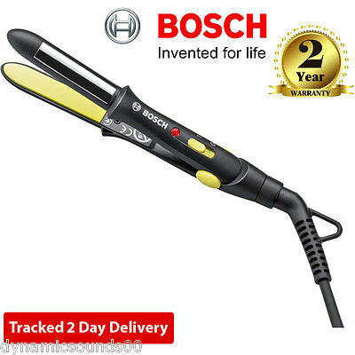 Bosch PHS1151GB Style to Go Compact Design Travel Hair Straightener Black/Yellow