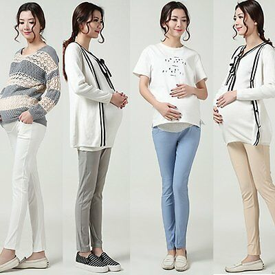 Women Pregnant Pants Trousers Maternity Pants Elastic Over Bump Supports Pants