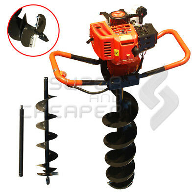 TmaxPro Garden Tool E-Start 58cc Petrol Post Hole Digger Earth Borer Auger