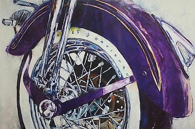 "Harley-Davidson Wall Poster Collectible Art ""Heritage Springer Softail"" #203"
